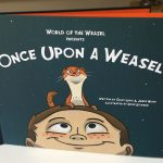 Once Upon a Weasel hardcover book front - standing up