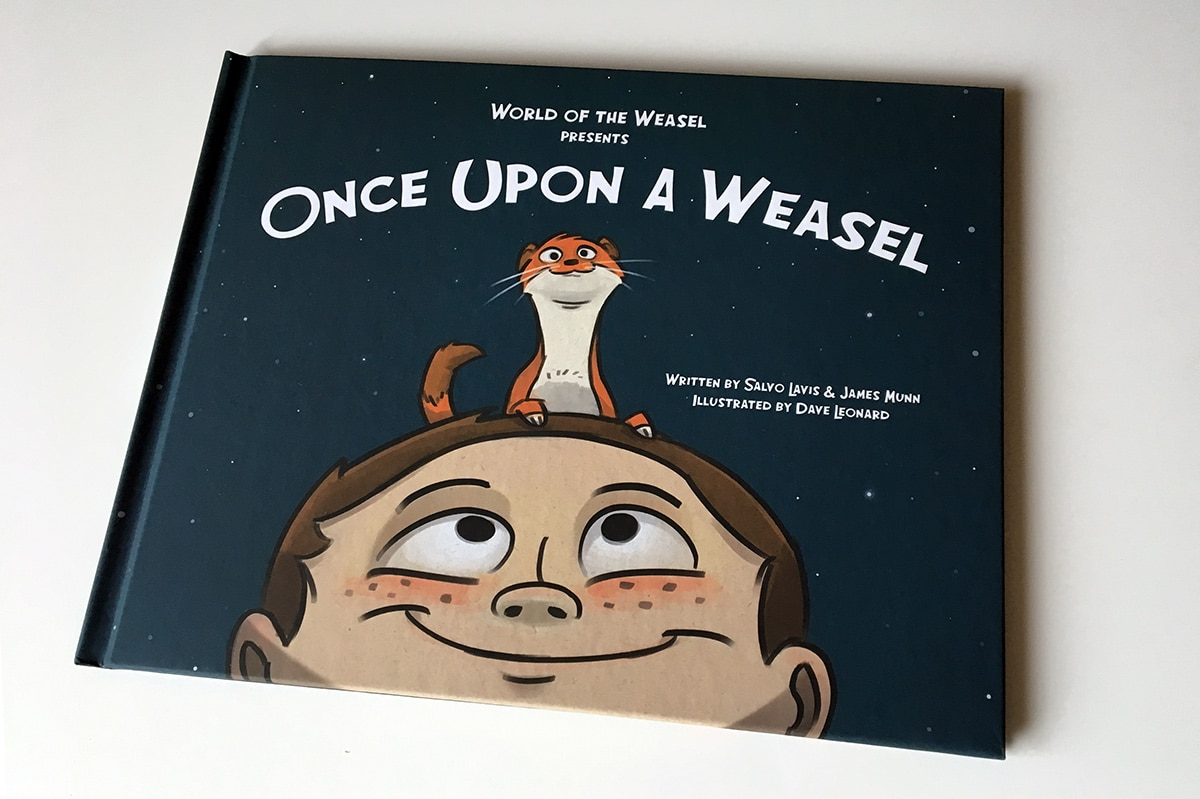 Once Upon a Weasel hardcover book front cover