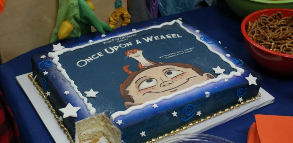 Once Upon a Weasel launch party at Miracle Mile Toys