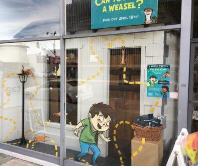 Miracle Mile Toys WILD WILD WEASEL window display 1