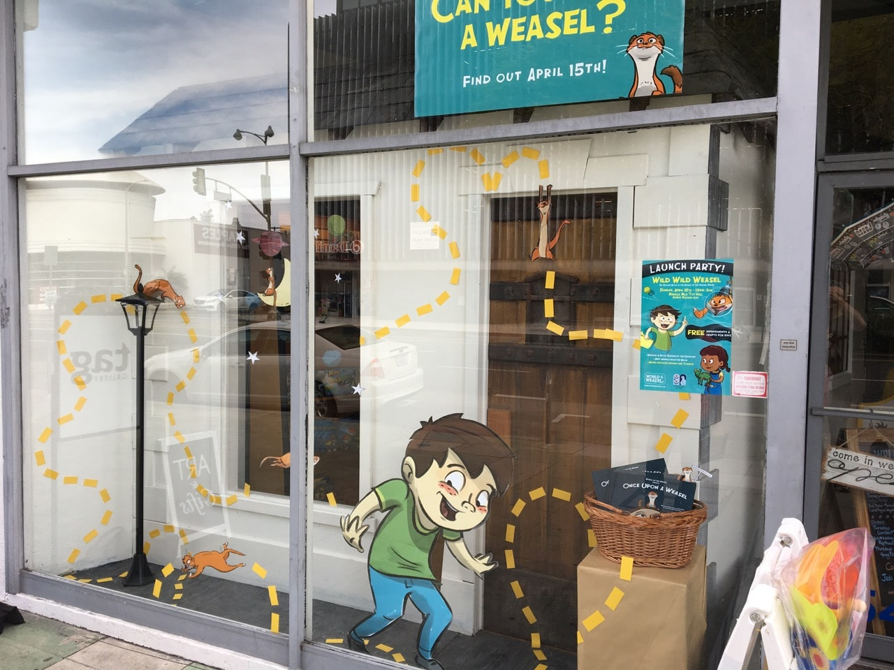 Miracle Mile Toys WILD WILD WEASEL window display 1