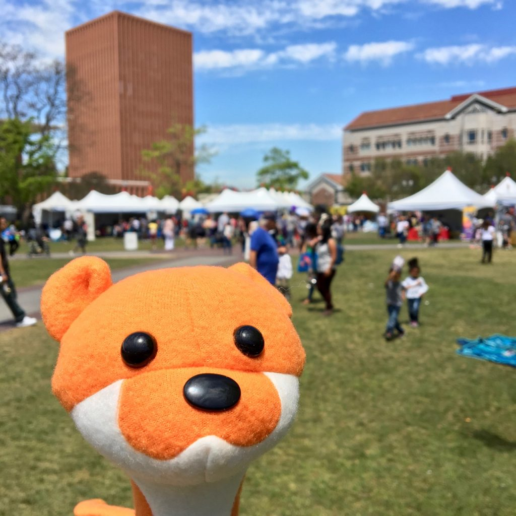 Weasel plush at LA Times Festival of Books 2018