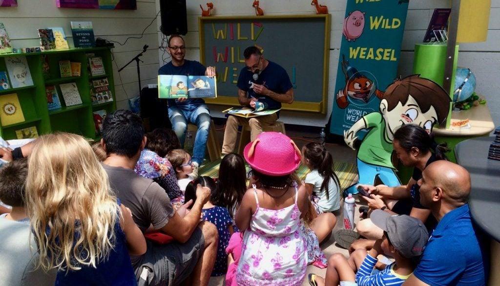 Reading WILD WILD WEASEL at Kidspace 2018
