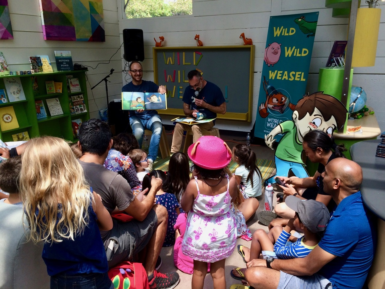 Reading WILD WILD WEASEL at Kidspace 2018