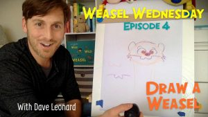 Weasel Wednesday episode 4 thumbnail - draw a weasel